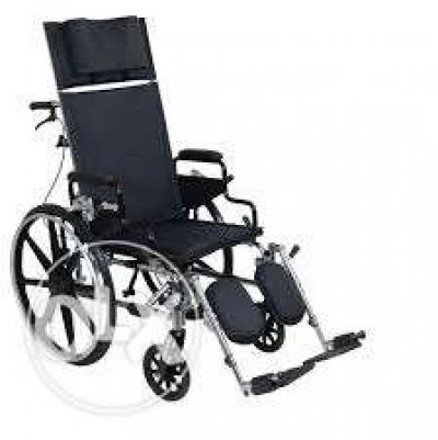 Reclining Commode Wheel Chair