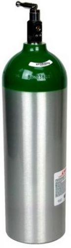 "Brand New JUMBO ""D' Size Aluminum Oxygen Cylinder tank W/ Standard Toggle Valve"