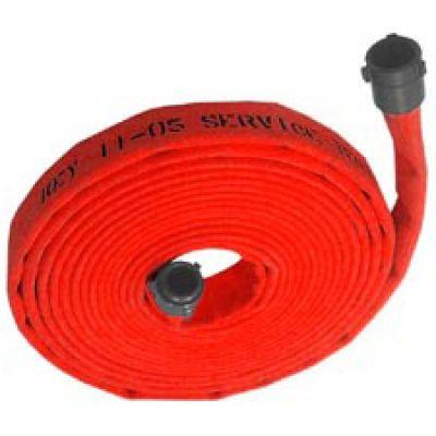 """Fire Hose 2.5 x 50"""" Single Jacket Made U.S.A. Red"""