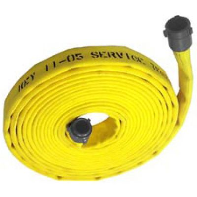 "Fire Hose 1.5 x 100"" Single Jacket Made U.S.A. Yellow"
