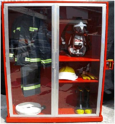 "Fire Equipment Cabinet (Steel) 80""H X 48""W X 20""D POWDER COATED"