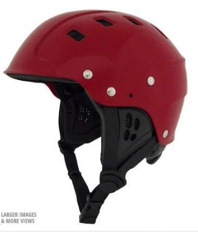 NRS Chaos Helmet - Side Cut Red Large