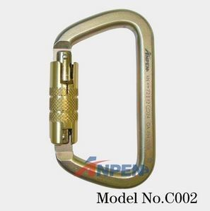 C002 Twistlock D-shaped Steel Carabiner