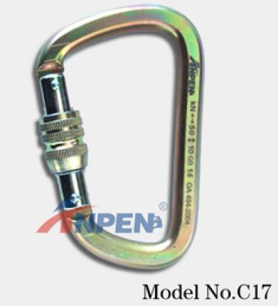 Anpen C17 Manual Screwgate Carabiner Steel