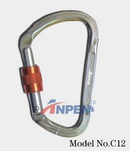 Anpen C12 Manual Screwgate Carabiner Aluminum