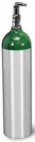 "Brand New ""D' Size Aluminum Oxygen Cylinder tank W/ Toggle Valve"