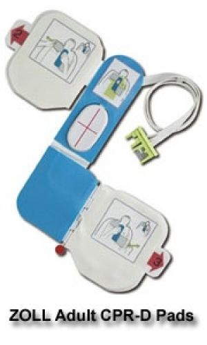 ZOLL CPR-D Padz for ZOLL AED Plus AED & ZOLL AED Pro (REF#8900-0800-01)
