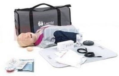Laerdal Resusci Anne QCPR AED Torso w/Airway Head w/Carry Bag