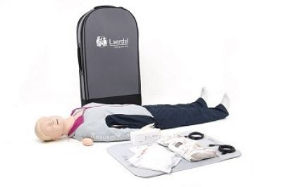 Laerdal Resusci Anne QCPR Full Body w/Airway Head w/Carry Bag