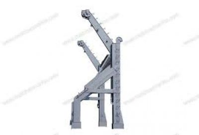 Gravity luffing arm type davit 55KN with CCS certificates 1 set