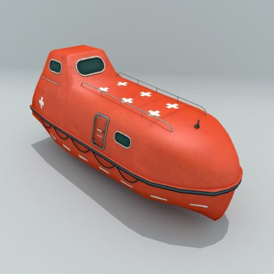 Brand New Totally enclosed FIRE protected type lifeboat NM50F 25 Person Engine: 380J Class:CCS
