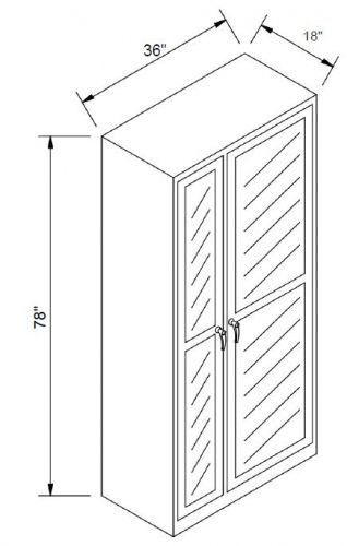 "Steel Storage Cabinet O.D. 78""x36""Wx18""D"