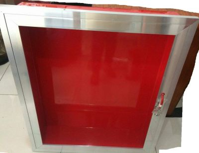 "Fire Hose Cabinet 32""x27""x7"" Aluminum Frame Steel Body Recessed Type"