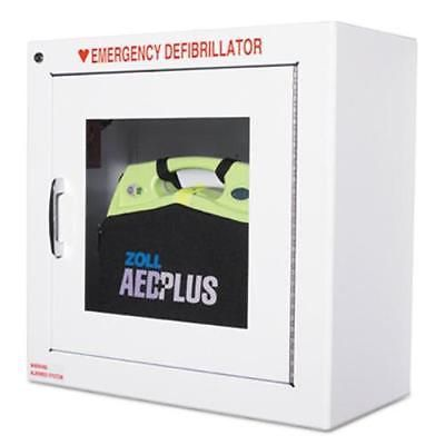 Zoll Aed Plus Standard Size Cabinet With Audible Alarm - Metal - White