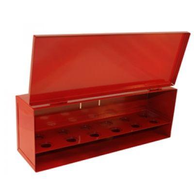 "Fire Sprinkler Head Cabinet Red Steel Box for 12 -1/2"" or 3/4"" NPT Sprinklers"
