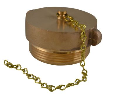 "BRASS PLUG AND CHAIN 2.5"" NH THREADS"