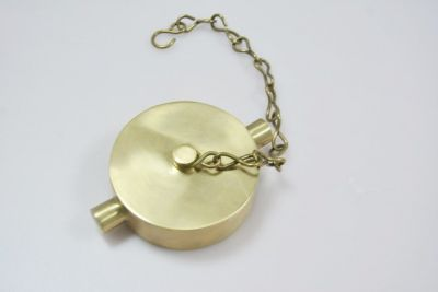"""Hydrant Cap with Chain (Brass) 2.5"""""""