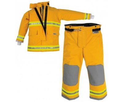 OSX Attack Fire Suit Coat and Pants Yellow MEDIUM
