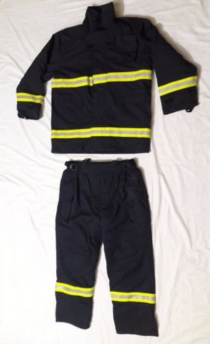 LAKELAND FIRE FIGHTERS TURNOUT GEAR NAVY BLUE SIZE M