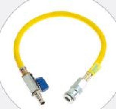 519052 Air hose with ball valve 10m Yellow Sava
