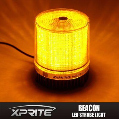 Emergency Flash Strobe Rotating Round 30 LED Beacon Warning Light 12W Amber
