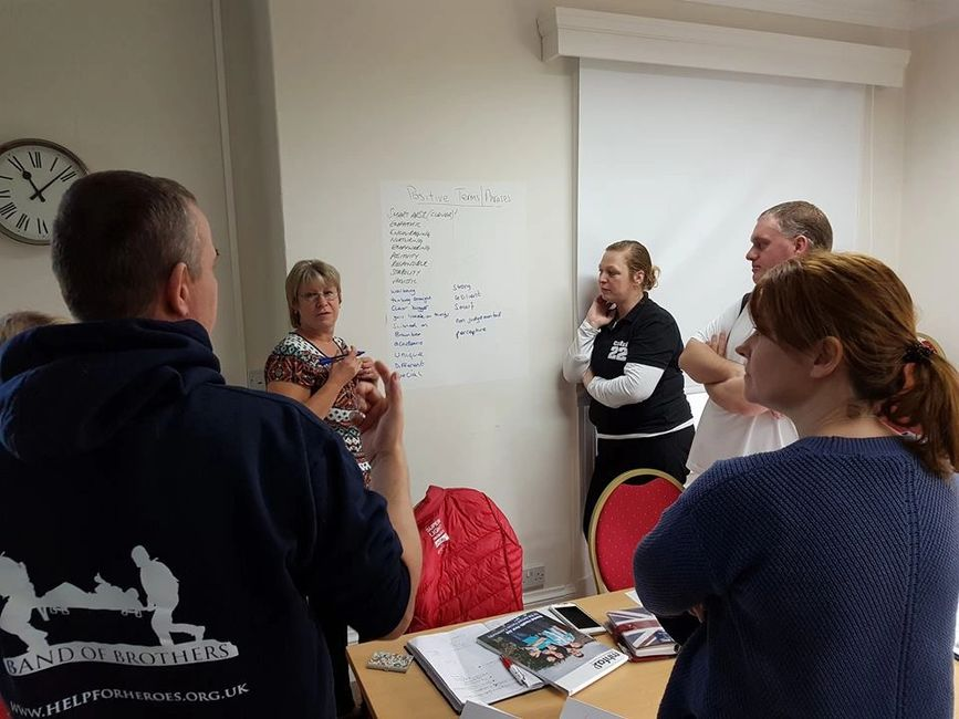 People taking part in an MHFA999 LTD mental health first aid training course.