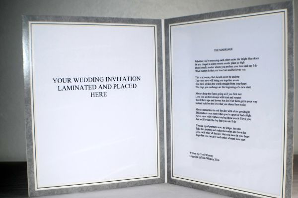 Double 8x10 Frame Marriage Poem