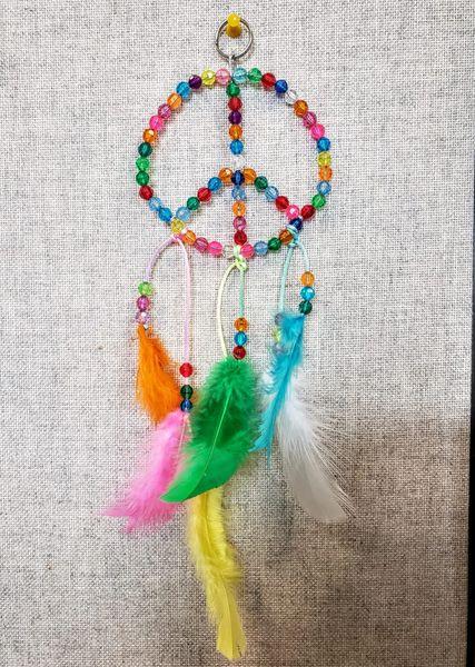 "4"" Hanging Peace Symbol"