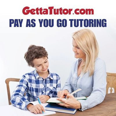 Math tutor helping student with math homework.  Pay as you go tutoring