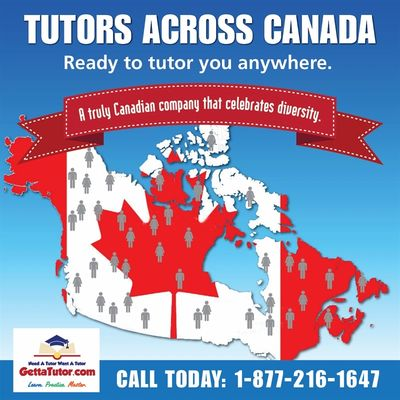 We have math tutors, chemistry tutors, english tutors, biology tutors, physics tutors, and french tutors for grade 1 to grade 12.
