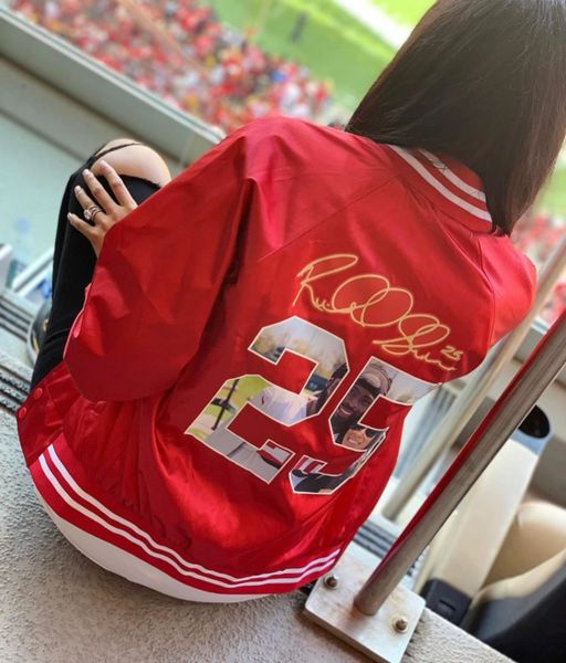 PICTURE PERFECT satin bomber jacket (customize)