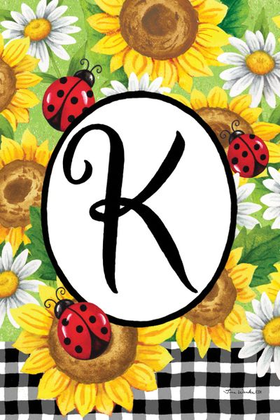 Sunflower ladybugs- Monogram