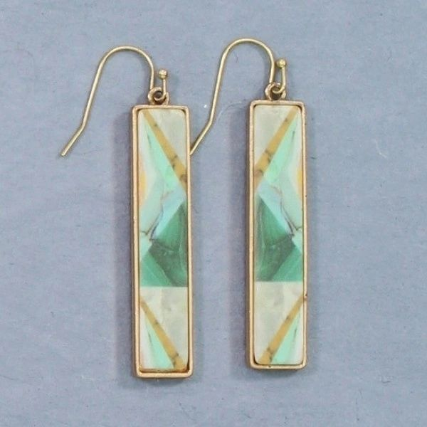 turquoise drop with marble design