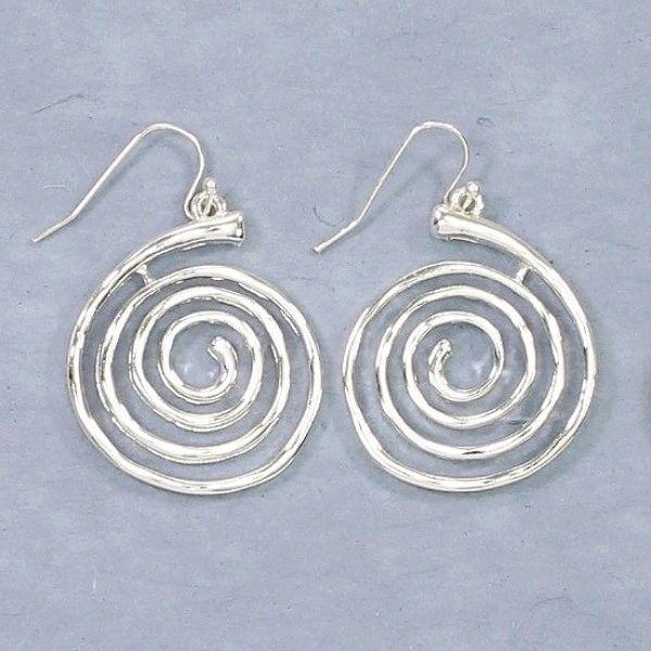 Spiral silver drops
