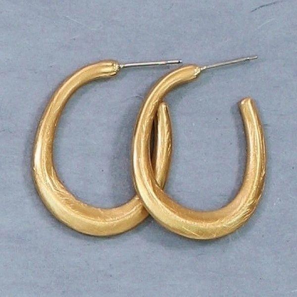 Matte gold hoops