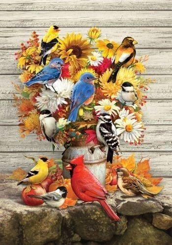 Fall Flower & Birds