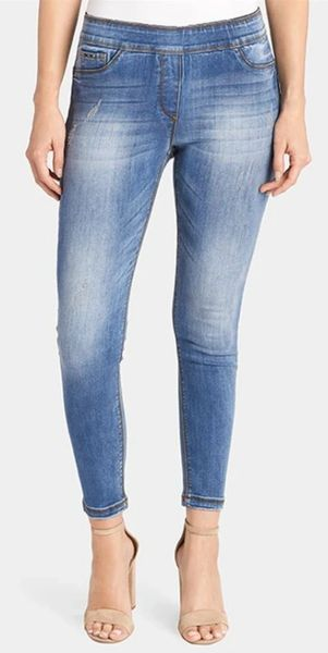 Skinny Ankle Jeggings Medium Denim