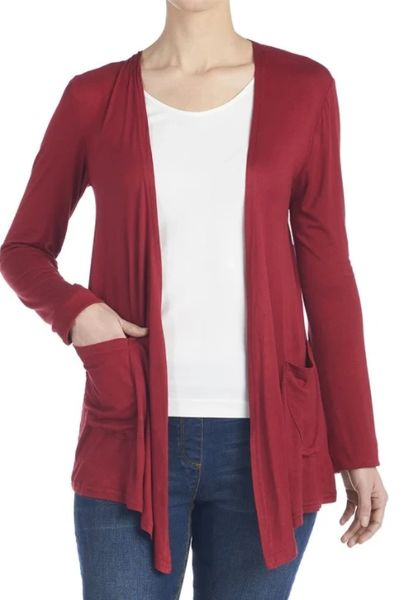 Red Soft Knit Cardigan