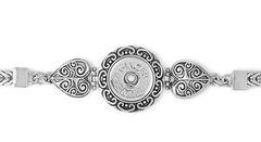 1 Snap Metal Hearts Bracelet