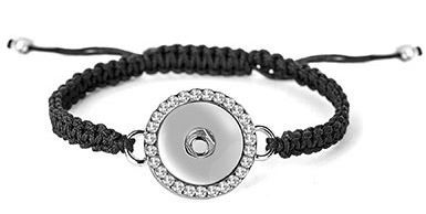 Ginger Snaps Bling Snap Woven Bracelet Adjustable