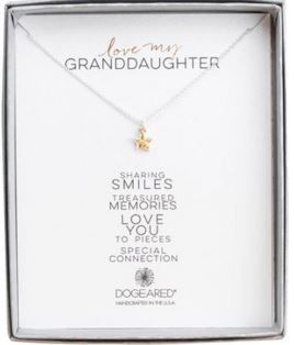 Love my granddaughter charm necklace, sterling silver