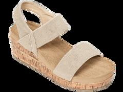 Tidewater Flip Flops- Tan or Navy wedge