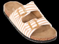 Tidewater Flip Flops- tan and white slip