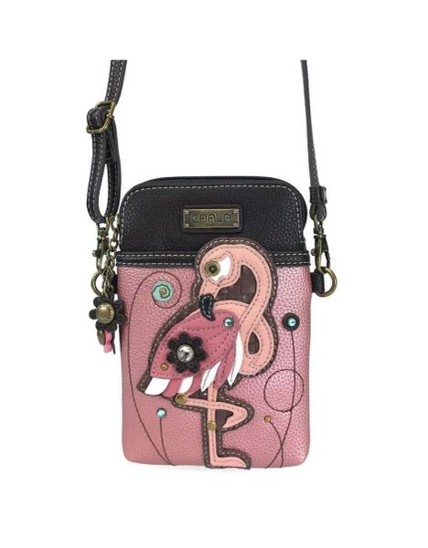 Chala Pink Flamingo Cell Phone Purse