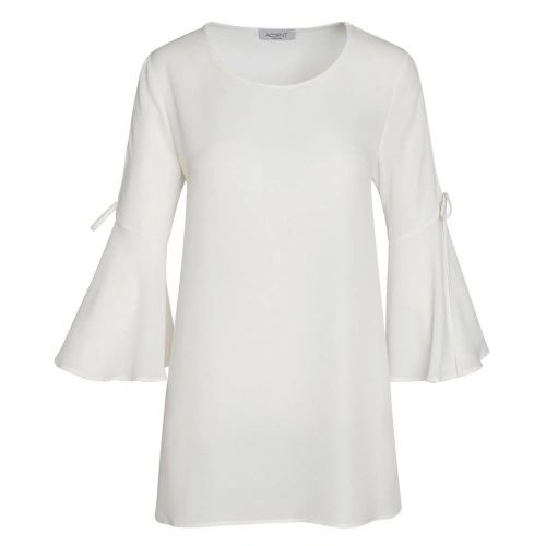 Accent sheer bell sleeve top