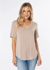 Taupe Casual Tee