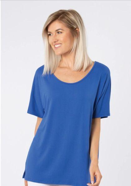 Blue Crochet Lace Top