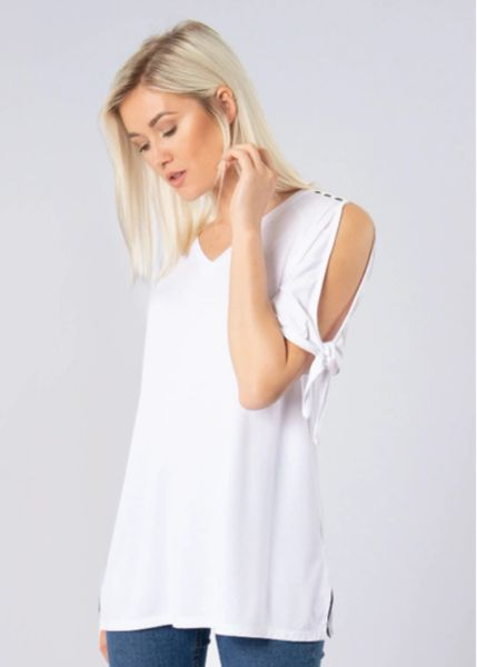 Open Shoulder Knot Top