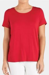 Red Tie Back Tee