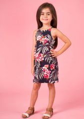 Mommy & Me Floral Print Dress-Girl
